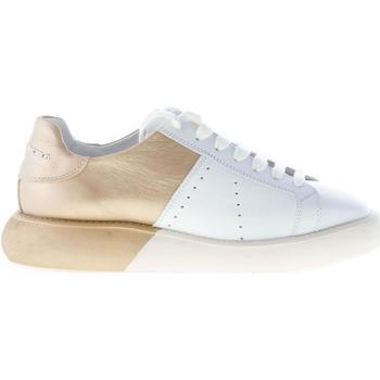 Scarpe Donna Sneakers basse Manuel Barcelo donna sneaker Trafalgar in pelle bicolore BIANCO e ORO bianco