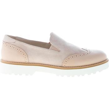 Scarpe Donna Mocassini Hogan donna H259 slip on sneaker in pelle e camoscio BEIGE beige