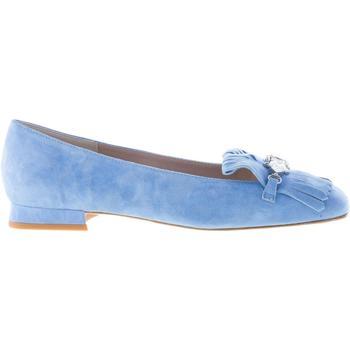 Scarpe Donna Mocassini Il Borgo Firenze mocassino in camoscio AZZURRO con frangia e gioiello blu