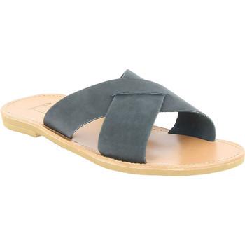 Scarpe Uomo Ciabatte Attica Sandals Sandali uomo orion handmade in greece con lacci incrociati i nero