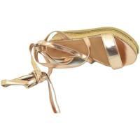 Scarpe Donna Sandali Malu Shoes Zeppa donna oro rosa sandalo basso comoda con fondo in spago al ORO
