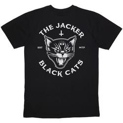 Abbigliamento Uomo T-shirt maniche corte Jacker Black cats Nero