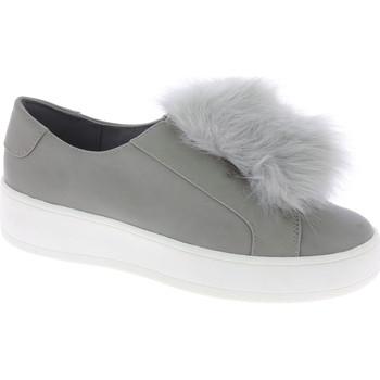 Scarpe Donna Slip on Steve Madden sneakers platform da donna in finta pelle grigi grigio