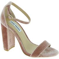 Scarpe Donna Sandali Steve Madden sandali da donna con tacco alto in velluto ros Cipria