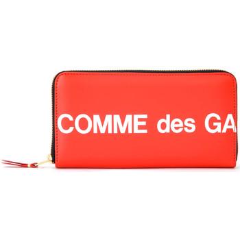 Borse Donna Portafogli Comme Des Garcons Portafoglio  Huge Logo zip around in Rosso