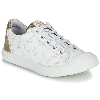 Scarpe Bambina Sneakers basse GBB MATIA Bianco / Oro