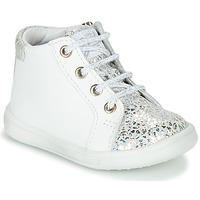 Scarpe Bambina Sneakers alte GBB FAMIA Bianco / Argento