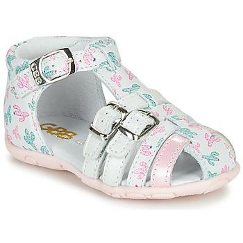 Scarpe Bambina Sandali GBB RIVIERA Bianco / Rosa
