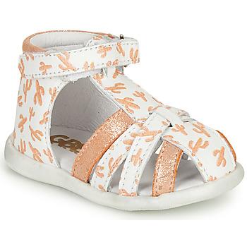 Scarpe Bambina Sandali GBB AGRIPINE Bianco / Arancio