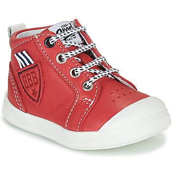 Scarpe Bambino Sneakers alte GBB GREGOR Rosso