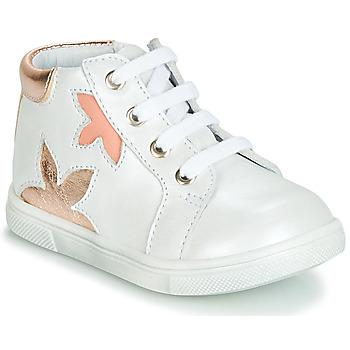 Scarpe Bambina Sneakers alte GBB ALEXA Bianco