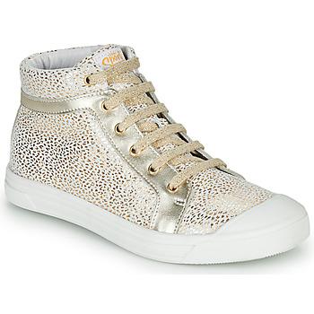 Scarpe Bambina Sneakers alte GBB NAVETTE Bianco / Oro