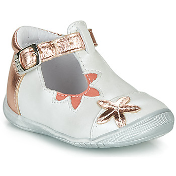 Scarpe Bambina Ballerine GBB ANAXI Bianco / Rosa / Oro