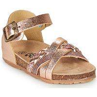 Scarpe Bambina Sandali GBB ALECTA Rosa / Oro