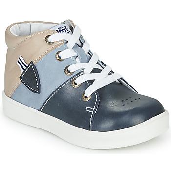 Scarpe Bambino Sneakers alte GBB AMOS Blu / Grigio