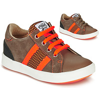 Scarpe Bambino Sneakers basse GBB ANTENO Marrone / Arancio