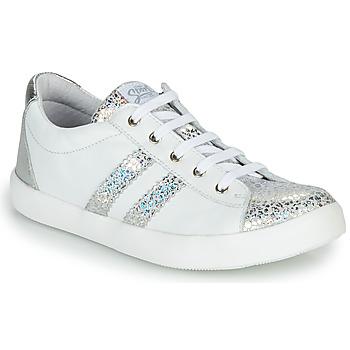 Scarpe Bambina Sneakers basse GBB MAPLUE Bianco / Argento