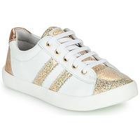 Scarpe Bambina Sneakers basse GBB MAPLUE Bianco / Oro