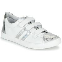 Scarpe Bambina Sneakers basse GBB MADO Bianco / Argento
