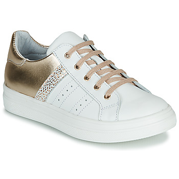 Scarpe Bambina Sneakers basse GBB DANINA Bianco / Oro