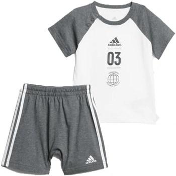 Abbigliamento Unisex bambino Completo adidas Originals DV1237 Grigio