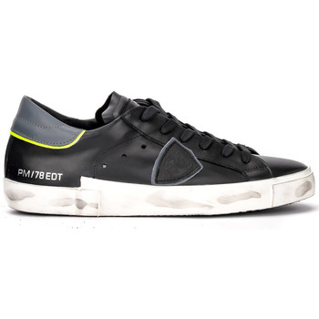 Scarpe Donna Sneakers basse Philippe Model Sneaker Paris X in pelle nera e grigia Nero