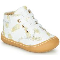 Scarpe Bambina Sneakers alte GBB ATARINA Bianco / Oro