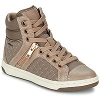 Scarpe Bambina Sneakers alte Geox CREAMY G Taupe