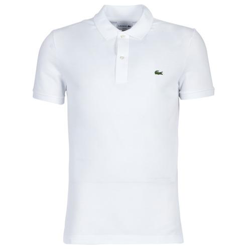 Abbigliamento Uomo Polo maniche corte Lacoste PH4012 SLIM Bianco