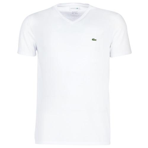Abbigliamento Uomo T-shirt maniche corte Lacoste TH6710 Bianco