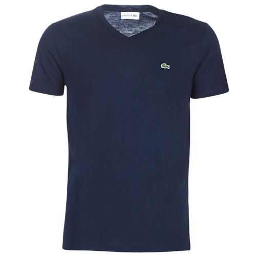 Abbigliamento Uomo T-shirt maniche corte Lacoste TH6710 Marine