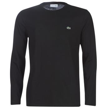 Abbigliamento Uomo T-shirts a maniche lunghe Lacoste TH6712 Nero