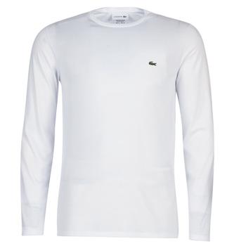 Abbigliamento Uomo T-shirts a maniche lunghe Lacoste TH6712 Bianco