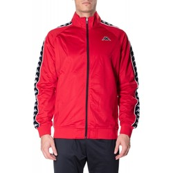 Abbigliamento Uomo Felpe Kappa BANDA ANNISTON SLIM c52-nero-rosso