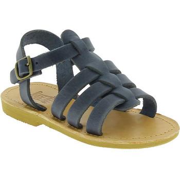 Scarpe Bambino Sandali Attica Sandals Attica sandalo da bambino persephone in morbida pelle nubuck blu