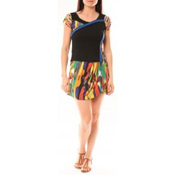 Abbigliamento Donna Abiti corti Bamboo's Fashion Robe BA1508 Orange Arancio