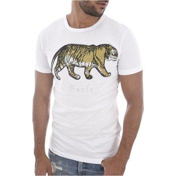 Abbigliamento Uomo T-shirt maniche corte Goldenim Paris maniche corte 1459 bianco