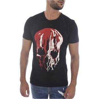 Abbigliamento Uomo T-shirt maniche corte Goldenim Paris maniche corte 1450 nero