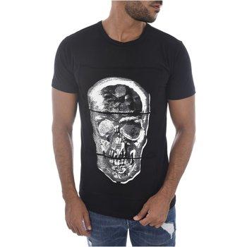 Abbigliamento Uomo T-shirt maniche corte Goldenim Paris maniche corte 1451-1 nero