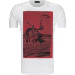 Abbigliamento Uomo T-shirt maniche corte Dsquared maniche corte S71GD0712 - Uomo bianco