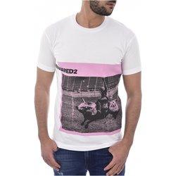Abbigliamento Uomo T-shirt maniche corte Dsquared maniche corte S71GD0713 - Uomo bianco