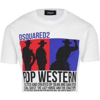 Abbigliamento Uomo T-shirt maniche corte Dsquared maniche corte S71GD0720 - Uomo bianco