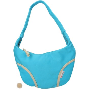 Borse Donna Tote bag / Borsa shopping Superga celeste tela AF679 celeste