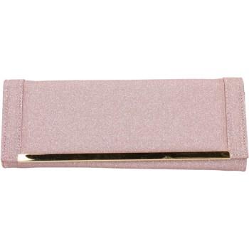 Borse Donna Pochette / Borselli Made In Italia pochette rosa tessuto oro AB990 rosa
