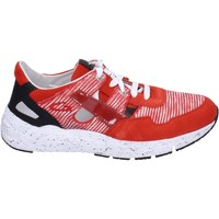 Scarpe Uomo Sneakers basse Guardiani sneakers tessuto camoscio Rosso