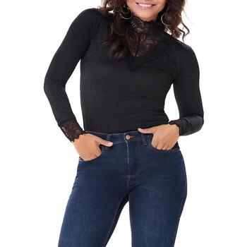 Abbigliamento Donna T-shirts a maniche lunghe Jacqueline De Yong  Nero
