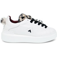 Scarpe Donna Sneakers basse Ed Parrish Sneakers  in pelle e cavallino bianco e marrone bianco,marrone