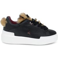 Scarpe Donna Sneakers basse Ed Parrish Sneakers  in pelle e cavallino nero e marrone nero,marrone