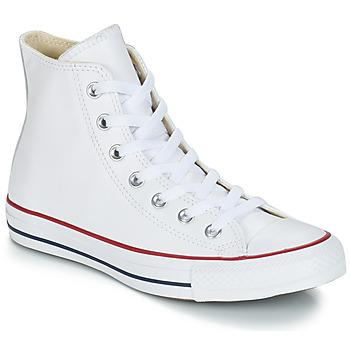 Scarpe Sneakers alte Converse Chuck Taylor All Star CORE LEATHER HI Bianco
