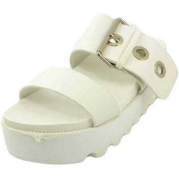 Scarpe Donna Sandali Malu Shoes Sabot donna sandalo bianco in pelle con cinghia e borchioni all BIANCO